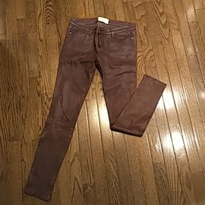 Current Elliot Leather Jeans